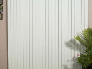 Solid White Smooth Vinyl Vertical Blind  48 inches long x 36 to 98 inches Wide  Retail 117 49