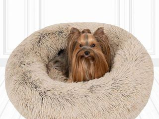Friends Forever Coco Faux Fur Self Warming Indoor Round Donut Cuddler