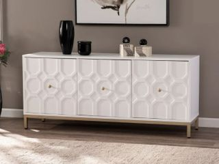 Strick   Bolton Gibbfield Contemporary White Wood Accent Cabinet  Retail 312 99