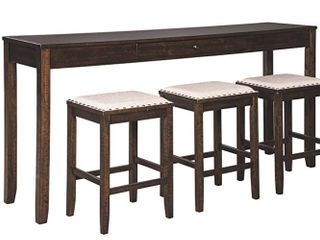 Rokane Table and Bar Stools   Signature Design By Ashley
