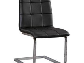 Madanere Dining Room Chair   Set of 4   Black Chrome Finish Retail 422 20