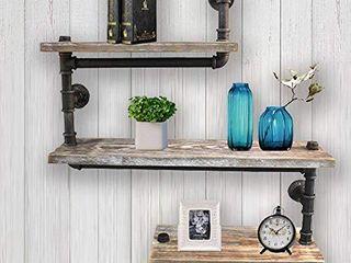 Reclaimed Wood   Industrial Heavy Duty DIY Pipe Shelf Shelves Steampunk Rustic Urban Bookshelf Real Wood Bookshelves and bookcases