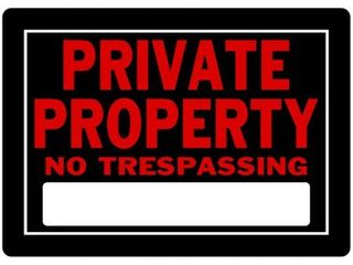 lot of 2 Aluminum Private Property Sign