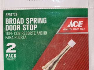 Ace 3  Bright Brass Spring Broad Base Door Stop Full Case 15x 2 Pack