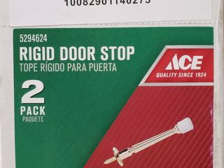 Ace Metal Rigid Door Stop Bright Brass Full Box with 15x 2 pack