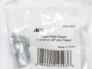 Ace 1 1 16in   1 1 4in Fixed Plate Staple Box of 10 pcs