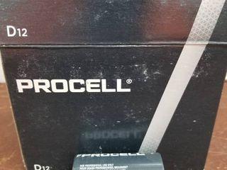Duracell Procell Alkaline D Batteries 12 Box