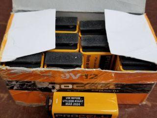 Duracell Procell Alkaline 9V Batteries 12 Pack