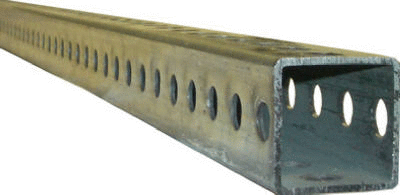 Steelworks 3 ft l x 1 in W x 1 in H Plated Steel Perforated Square Tube