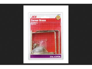 Ace Inside l Corner Brace 3 in  x 3 4 in  Brass