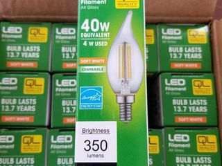 Case of 12 Flame Tip lED light Bulb