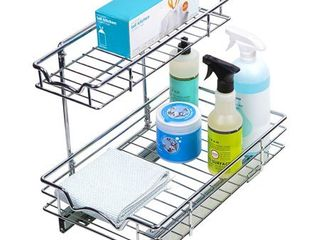Pull Out Two Tier Sliding Under Cabinet Organizer  11 W x 18 D
