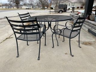 Patio Table And Three Chairs