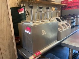 Sauce Pumps And Silverware Caddy