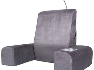 Carepeutic Bed lounger with Heated Comfort Massager  Gray   MISSING POWER CORD