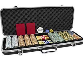 DA VINCI Monte Carlo Poker Club Set of 500 14 Gram 3 Tone Chips