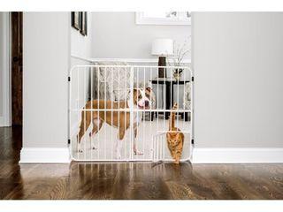 Carlson Metal Expandable Dog Gate  White  38 l x 2 W x 32 H