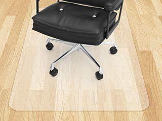 Office Chair Mat for Hardwood Floor VPCOK Plastic Floor Mat for Office Chair Wood Floor 47 x 35inch