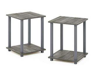 Furinno Simplistic End Table  French Oak Grey Grey