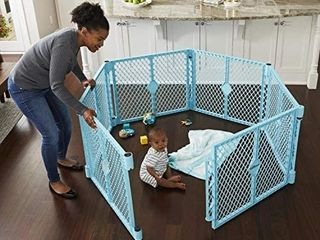 Toddleroo By North States Superyard Indoor outdoor 6 Panel Baby Play Yard  Safe