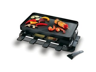 Classic 8 Person Black Raclette Grill