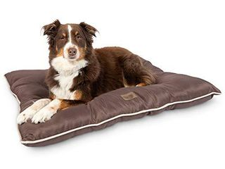 Pet Craft Supply Super Snoozer Calming Indoor   Outdoor All Season Water Resistant Durable Dog Bed  large  Chocolate