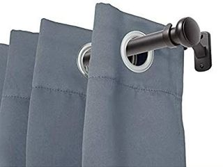 72 144  Weaver Indoor Outdoor Rust Resistant Curtain Rod  Black   Kenney
