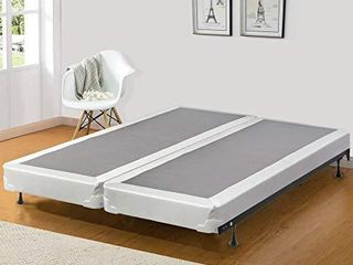 Spinal Solution Fully Assembled Split Box Spring Foundation for Mattress  Full  Grey  440G 4 6 3lPS