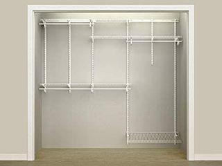 ClosetMaid 5ft   8ft Adjustable Closet Organizer