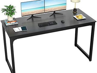 Foxemart Computer Desk 55 Modern Sturdy Office Desk PC laptop Notebook Study Writing Table  Black