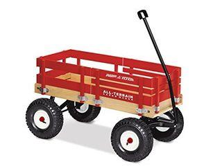Radio Flyer All Terrain Cargo Wagon for Kids  Garden and Cargo  Red