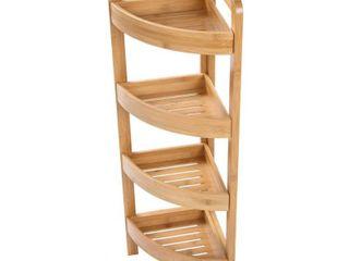 31 5  4 Tier Bamboo Corner Storage Shelf By Trademark Innovations