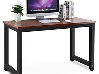 Tribesigns Modern Simple Style Computer Desk  Teak   Black leg