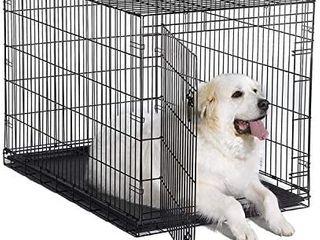 World 48  Folding Metal Dog Crate Includes leak proof Plastic Tray Dog