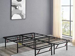 Amazon Basics Foldable  14  Metal Platform Bed Frame with Tool Free Assembly  No Box Spring Needed   Queen
