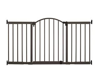 Summer Metal Expansion 6 Foot Wide Extra Tall Walk Thru Baby Gate  Bronze Finish 36 Tall  Fits Openings of 44 to 72 Wide  Baby and Pet Gate for Extra Wide Doorways