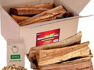 Apple firewood logs 15lbs and Wood Chips   Fire logs for Fireplace   Cooking Wood for BBQ and Smoking  WOOD CHIPS ARE GONE