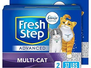 Fresh Step Advanced Multi Cat Clumping Cat litter with Odor Control   37 lb  Package May Vary