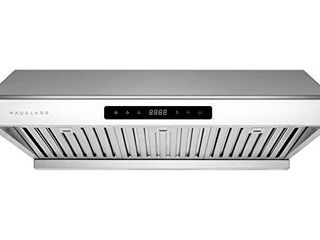 Hauslane   Chef Series 30 PS10 Under Cabinet Range Hood   PRO PERFORMANCE   Stainless Steel Electric Stove Ventilator   3 Speed Exhaust Fan  Bright lED lights   Delay Auto Shut Off