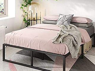Zinus lorelai 14 Inch Metal Platform Bed Frame   Steel Slat Support   No Box