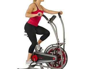 Sunny Health   Fitness Motion Air Bike  Fan Exercise Bike with Unlimited Resistance and Tablet Holder   SF B2916 Black