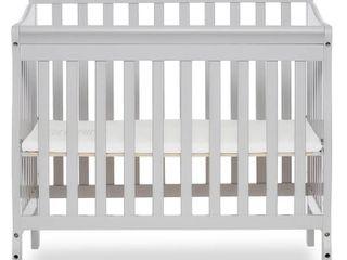 Dream On Me Aden 4 in 1 Convertible Mini Crib Mystic Gray