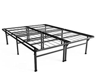 Zinus Premium SmartBase 4 Extra Inches high for Under bed Storage Mattress Foundation Platform Bed Frame Box Spring Replacement Strong Sturdy Quiet Noise Free  Queen