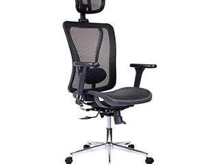 Techni Mobili Mesh Office Chair  Black