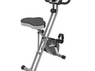 ATIVAFIT Indoor Cycling Bike Folding Magnetic Upright Bike Stationary Bike Recumbent Exercise Bike  large Seat