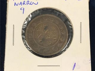 1859 Canadian Large one cent piece
