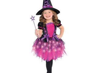 Children s Sparkle Witch light Up Costume Size Toddler  3 4