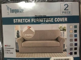Turquoize Stretch Chair Cover Set Of 2