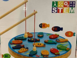 Childrens Wooden Fishing Game