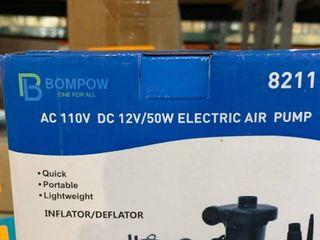 Bompow AC 110V DC 12V 50W Electric Air Pump